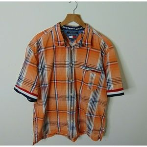 Tommy Jeans Xl Short Sleeve Button Front Shirt